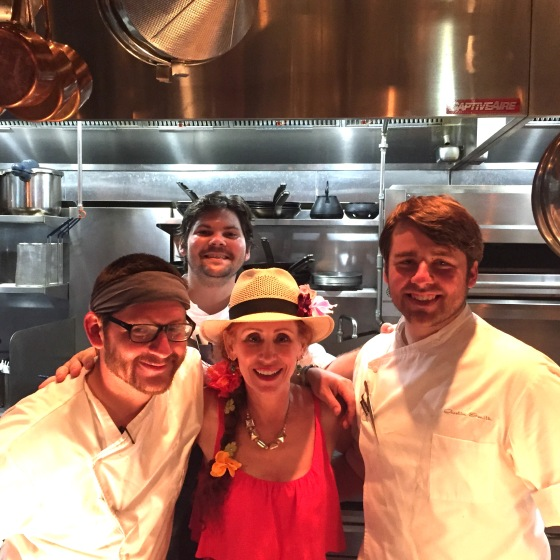 The talented and adorable staff of bad ass cheffery that is the kitchen at Square Root NoLa