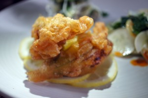 Fried Squash Blossoms and Mayer Lemons
