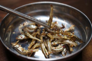 Myulchi Bokum (salted, crispy fried anchovies)