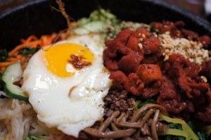 Bibimbap (with spicy pork, and the requisite egg)