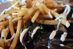 Glorious Mussels and French Fries!