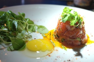 Lovely Ahi Tartare & Quail Egg