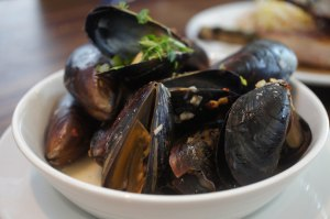 "Mussels ""special"" ~ swimming in succulent broth"