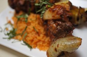 Lamb Skewers & Mediterranean Sauces